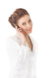 Beautiful woman using a mobile phone. Royalty Free Stock Photo
