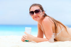 Beautiful woman on vacation Stock Photography