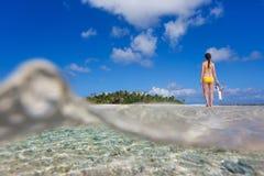 Beautiful woman on vacation Stock Photography