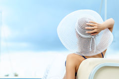 Beautiful woman on vacation Royalty Free Stock Images