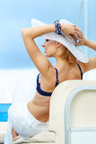 Beautiful woman on vacation Royalty Free Stock Image