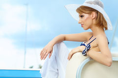 Beautiful woman on vacation Royalty Free Stock Photography