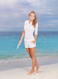Beautiful woman in vacation Royalty Free Stock Photography