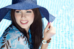 Beautiful woman on vacations Royalty Free Stock Images