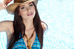 Beautiful woman on vacations Stock Photography