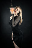 Beautiful woman vampire Stock Photos