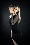 Beautiful woman vampire Stock Photos