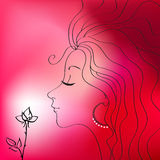 Beautiful woman vector silhouette Royalty Free Stock Image
