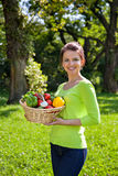 Beautiful woman with vegetables Stock Photo