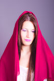 Beautiful woman with veil. Portrait of beautiful woman with veil stock image