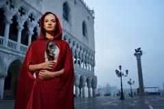 Beautiful woman in Venice Stock Image
