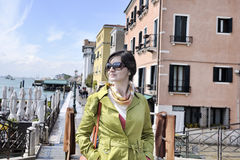 Beautiful woman in Venice Royalty Free Stock Images