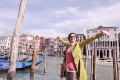 Beautiful woman in Venice Royalty Free Stock Image