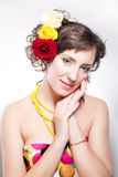 Beautiful woman - vernal happy young beauty Stock Photography