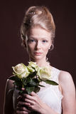 Beautiful woman in victorian style Royalty Free Stock Photo