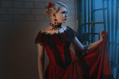 Beautiful woman in a Victorian style. Stock Images