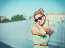 Beautiful woman in vintage clothing Royalty Free Stock Images