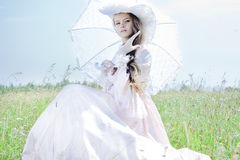 Beautiful woman in vintage dress Royalty Free Stock Photo