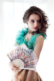Beautiful woman in vintage dress Stock Photography