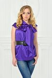 Beautiful  woman in violet blouse, Royalty Free Stock Photos