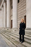 Beautiful woman waiting Stock Photos