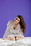 Beautiful woman waking up Stock Photography