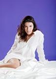 Beautiful woman waking up Stock Photo