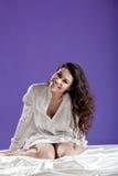 Beautiful woman waking up Royalty Free Stock Photos