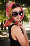 Beautiful woman on the walk Royalty Free Stock Photo