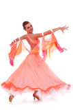 Beautiful woman in a waltz dance move Stock Photos