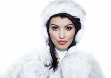 Beautiful woman in warm clothing Stock Image