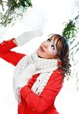 Beautiful woman in warm clothing Royalty Free Stock Image