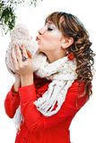 Beautiful woman in warm clothing Royalty Free Stock Images