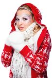 Beautiful woman in warm clothing Stock Photo