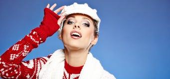 Beautiful woman in warm clothing Stock Photo