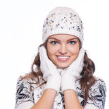 Beautiful woman in warm clothing Royalty Free Stock Photo