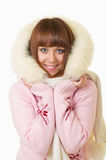 Beautiful woman in warm clothing Stock Photos