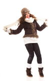 Beautiful woman in warm clothing winter Royalty Free Stock Photography