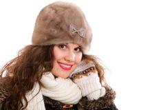 Beautiful woman in warm clothing winter Stock Photo
