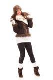 Beautiful woman in warm clothing winter Stock Image