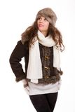 Beautiful woman in warm clothing winter Stock Photo