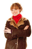 Beautiful woman in warm coat Royalty Free Stock Photography