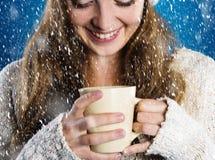 Beautiful woman in warm sweater Royalty Free Stock Image