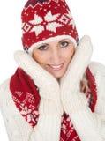 Beautiful woman in warm winter clothing Stock Photo