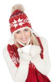 Beautiful woman in warm winter clothing Royalty Free Stock Image