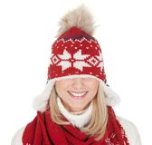 Beautiful woman in warm winter clothing Royalty Free Stock Photography