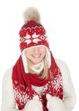 Beautiful woman in warm winter clothing Stock Image
