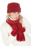 Beautiful woman in warm winter clothing Royalty Free Stock Photo