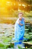 Beautiful woman  and water Stock Photos