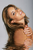 Beautiful woman in water Royalty Free Stock Image
